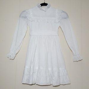 Dorissa Of Miami Girls Eyelet Prairie Dress 6X